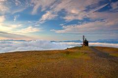 Beautiful view on the Slovenia mountains, Gerlitzen Alps.Communi Stock Images