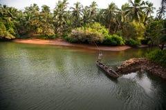 Beautiful view of small fishing boat Stock Photography