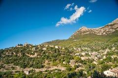 Beautiful view of a small mountain village Deia in Mallorca, Spa Royalty Free Stock Photos
