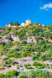 Beautiful view of a small mountain village Deia in Mallorca, Spa Royalty Free Stock Image