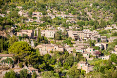 Beautiful view of a small mountain village Deia in Mallorca, Spa Royalty Free Stock Photography