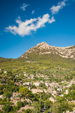 Beautiful view of a small mountain village Deia in Mallorca, Spa Royalty Free Stock Photos