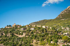 Beautiful view of a small mountain village Deia in Mallorca, Spa Stock Photography
