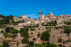 Beautiful view of the small town Valldemossa Royalty Free Stock Images