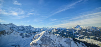 Beautiful view of snowy Alpine peaks in Austria Royalty Free Stock Photo