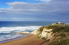 Beautiful view of Sopelana beach. In basque country Royalty Free Stock Photography