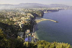 Beautiful view of Sorrento in foggy morning. Italy Stock Image