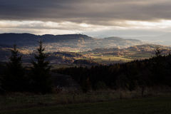 Beautiful view of South Czech countryside Royalty Free Stock Image
