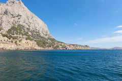 Beautiful view of the southern coast in  Crimea Royalty Free Stock Image