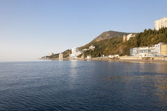 Beautiful view of the southern coast in  Crimea Royalty Free Stock Photos
