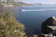 Beautiful view of the southern coast in Crimea Royalty Free Stock Photography