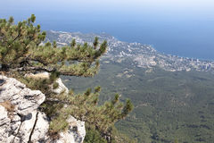 Beautiful view of the southern coast in  Crimea Stock Images