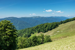 Beautiful view from spring Ukrainian mountains Stock Photography