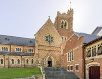 Beautiful view of St. George`s Cathedral in morning light, Perth, Western Australia. Oceania stock images