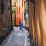 Beautiful view of Stockholm capital Gamla Stan old town, Sweden Stock Images