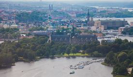 Beautiful view of Stockholm capital Gamla Stan old town, Sweden Stock Image
