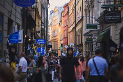 Beautiful view of Stockholm capital Gamla Stan old town, Sweden Royalty Free Stock Images