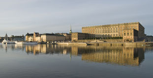 Beautiful view of Stockholm with Royal Palace Royalty Free Stock Photo