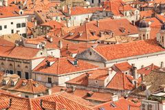 Beautiful view of the streets of the historic city of Dubrovnik, Croatia Stock Photos