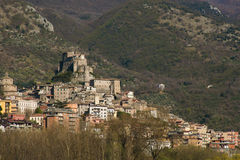 Beautiful view of Subiaco old village in Lazio Royalty Free Stock Photos