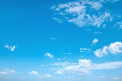 Beautiful view of a summer, cloudy sky Royalty Free Stock Photo