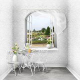 Beautiful view of the summer park stock images