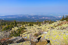 Beautiful view from the summit of the Brocken Stock Photos