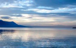 Beautiful view on sunset at Geneva Lake Stock Photo