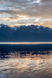 Beautiful view on sunset at Geneva Lake Royalty Free Stock Photo