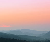 Beautiful view of sunset over mountains Royalty Free Stock Photography