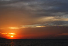 Beautiful view of sunset. At Seechang island Royalty Free Stock Photos