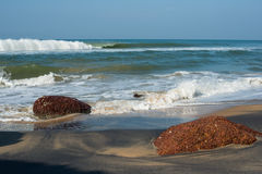 Beautiful view of a surprising tropical beach in India Stock Photography