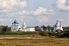 Beautiful view of the Suzdal Kremlin. And Ilyinsky church. Russia Royalty Free Stock Images
