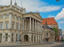Opera house in Wroclaw Poland stock image