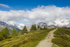 Beautiful view of the swiss alps Royalty Free Stock Images