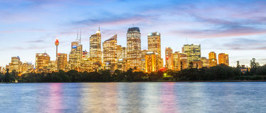 Beautiful view of Sydney Harbour with sunset sky, Australia.  Stock Image