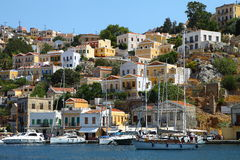 Beautiful view of Symi island in Greece Stock Photo