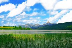 Tegernsee,Bayern,Germany. Beautiful view from Tegernsee,Bayern,Germany Royalty Free Stock Image