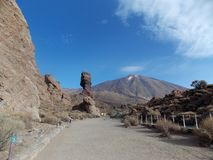 Beautiful view, Teide, Tenerife. Mount Teide is a volcano on Tenerife in the Canary Islands, Spain. It is the highest point in Spain and real must-visit place royalty free stock photography
