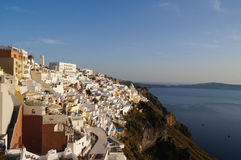 Beautiful view of Thira in Santorini,Greece. Royalty Free Stock Photo