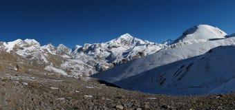 Beautiful view from Thorung La Pass Royalty Free Stock Image