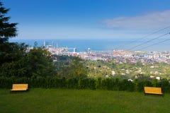 Beautiful view to Batumi city Georgia and Black sea Royalty Free Stock Photos