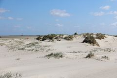 Romantic view to the beach at the north sea stock image