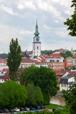 Beautiful view to city, Czech republic Royalty Free Stock Images