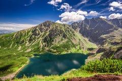 Beautiful view to Czarny Staw Gasienicowy in Polish Mountains. Europe Royalty Free Stock Photo