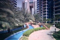 Beautiful view to dubai yard Stock Image