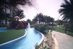 Beautiful view to dubai yard Stock Photo