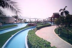 Beautiful view to dubai yard Royalty Free Stock Image