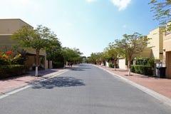 Beautiful view to dubai yard Royalty Free Stock Photography
