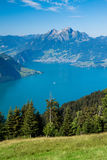 Beautiful view to Lucerne lake and mountain Rigi Royalty Free Stock Image